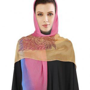روسری حریر سنتی فیوشیا