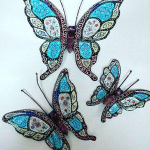 ست پروانه مینا کاری