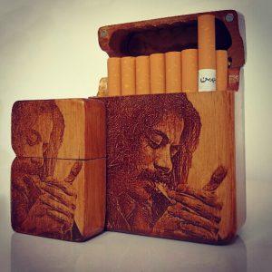 ست جا سیگاری و فندک