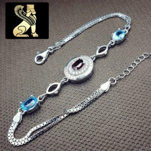 دستبند نقره زنانه سفارش ساخت ایران