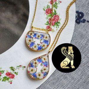 گردنبند رزین زنانه سفارش ساخت ایران